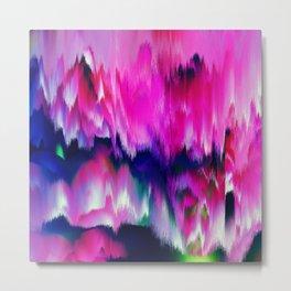 FASCINATE - Glitch - Pink and Blue Metal Print