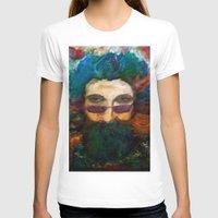 grateful dead T-shirts featuring Jerry Garcia Watercolor Portrait Grateful Dead by Acorn