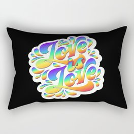 Love is love hand lettering slogan Rectangular Pillow