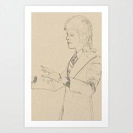 Ziggy StardustDavid Bowie Art Print