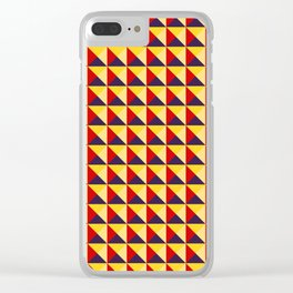 Abstract Triangle Pattern - Colorway #1 Clear iPhone Case