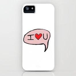 I <3 U iPhone Case