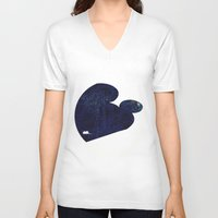 mouse V-neck T-shirts featuring mouse by liva cabule