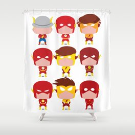 FLASH EVOLUTION Shower Curtain