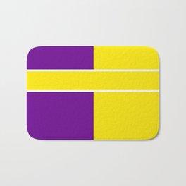 Team Colors 6....Yellow,purple Bath Mat