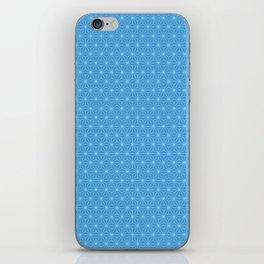 Blue Six-Star iPhone Skin