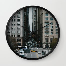 North on Columbus Wall Clock