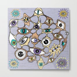 geodesic eyes Metal Print