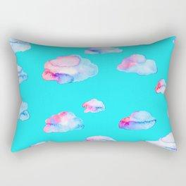 Watercolor Clouds Rectangular Pillow