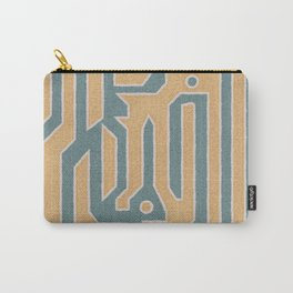 Coyote - Midcentury Minimalist Geometric Abstract Design Carry-All Pouch