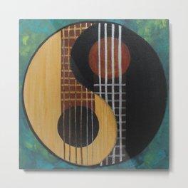 Guitar Yin Yang Metal Print