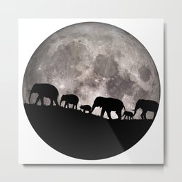 United Together - Elephants Metal Print