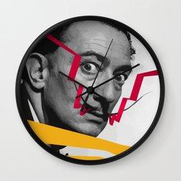 Graphic design portrait of Dali Wall Clock