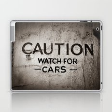 Caution: Watch For Cars Laptop & iPad Skin