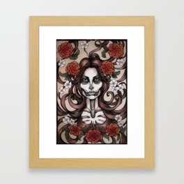 Blossoming Day of the Dead Framed Art Print