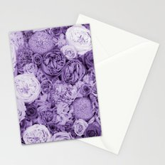 bouquet ver.purple Stationery Cards