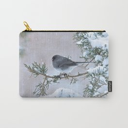 Snow Day Junco Carry-All Pouch