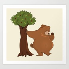 Bear and Madrono Art Print