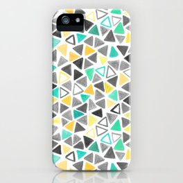 Crayon Triangles iPhone Case