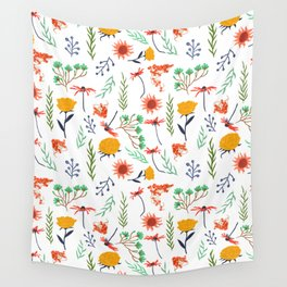 Rustica #illustration #pattern Wall Tapestry