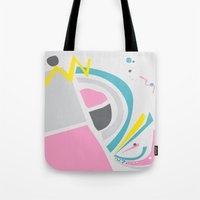 cake Tote Bags featuring Cake by These Are Strange Days