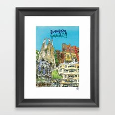 Enjoy Gaudí! Framed Art Print
