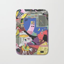 Pita snail and porch cat meet the ghost merchant Bath Mat