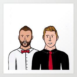 Beard Boy: Carlos & Ivan Art Print