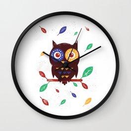Autumn Owl Wall Clock