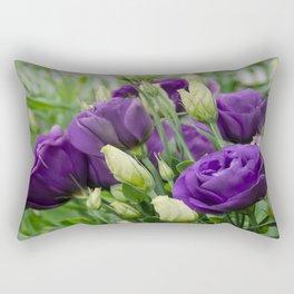 Blue Lisianthus Rectangular Pillow