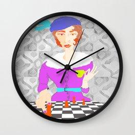 Tea and Chess Retro Wall Clock