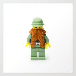 Dwarf Minifig with a big beard Art Print