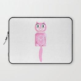 Pink Kit-Cat Clock Laptop Sleeve