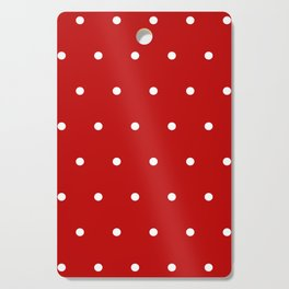 Red and White Polka Dots Pattern Cutting Board