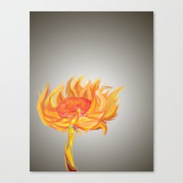 Flame Flower Canvas Print