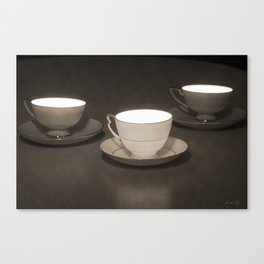 You, Me and a Cup of Tea Canvas Print