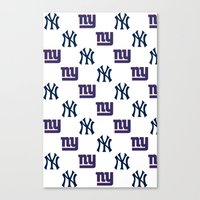 yankees Canvas Prints featuring NY Yankees and Giants  by Shaina