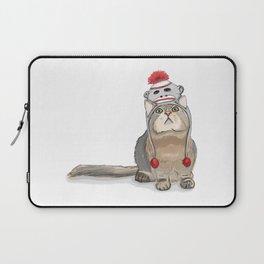 Sock monkey hat cat Laptop Sleeve