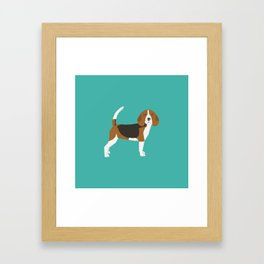 Beagle cute dog gifts pure breed must haves beagles Framed Art Print