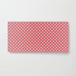 Light Pink Dotty Pattern Metal Print