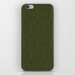 Art Deco Arch Pattern VIII - Dark Green iPhone Skin