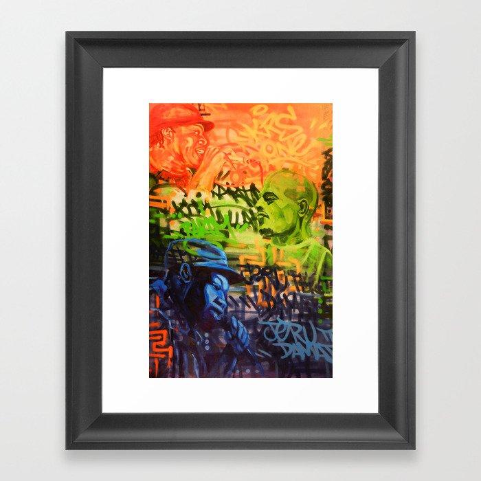 Legendary Emcees Framed Art Print