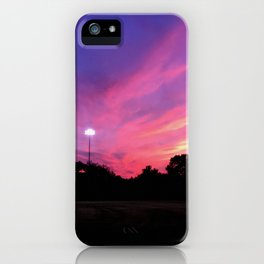 Angels in the Outfield Sunset iPhone Case