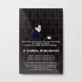 A Scandal in Belgravia - Jim Moriarty Metal Print