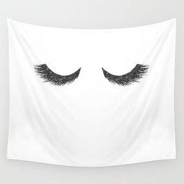 Lashes Black Glitter Mascara Wall Tapestry