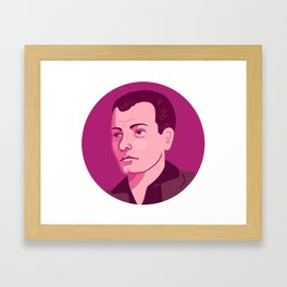 Queer Portrait - Harry Hay Framed Art Print