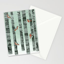 January Birds Stationery Cards