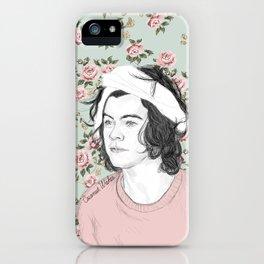 H circle floral  iPhone Case