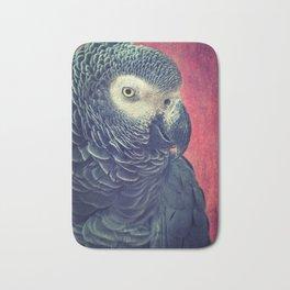 Gray Parrot Bath Mat