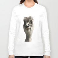 ostrich Long Sleeve T-shirts featuring Ostrich by Raymond Earley